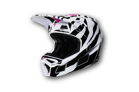 Casco FOX Racing Zebra Collection